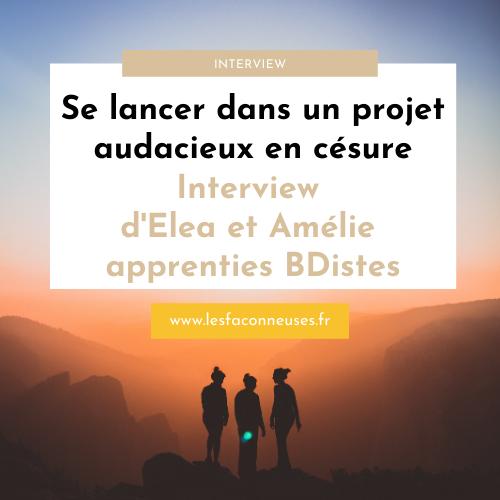 Interview d'Elea et Amélie, apprenties bédéistes
