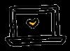pictogramme ordinateur coeur